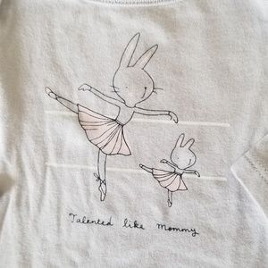 "Baby GAP ""Talented Like Mommy"" Ballerina Onesie"